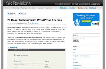 http://sixrevisions.com/wordpress/20-beautiful-minimalist-wordpress-themes/