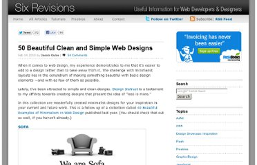 http://sixrevisions.com/design-showcase-inspiration/50-beautiful-clean-and-simple-web-designs/