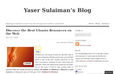 http://yaserxp.wordpress.com/2008/05/29/discover-the-best-ubuntu-resources-on-the-web/