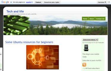 http://www.techandlife.com/2009/09/some-ubuntu-resources-for-beginners/