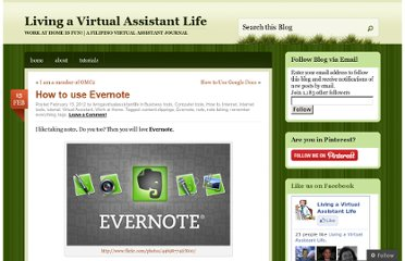 http://livingavirtualassistantlife.wordpress.com/2012/02/15/how-to-use-evernote/