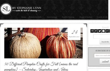 http://www.bystephanielynn.com/2011/09/50-different-pumpkin-crafts-for-fall.html