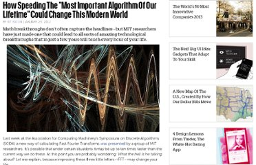 http://www.fastcompany.com/1810522/how-speeding-most-important-algorithm-our-lifetime-could-change-modern-world