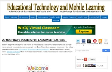 http://www.educatorstechnology.com/2012/09/20-must-have-posters-for-language.html