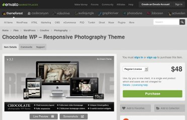 http://themeforest.net/item/chocolate-wp-responsive-photography-theme/299901