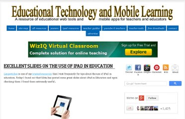 http://www.educatorstechnology.com/2012/09/excellent-slides-on-use-of-ipad-in.html