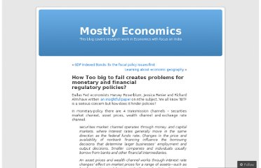 http://mostlyeconomics.wordpress.com/2010/04/28/how-too-big-to-fail-creates-problems-for-monetary-and-financial-regulatory-policies/