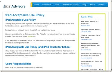 http://theictadvisors.co.uk/ipad-acceptable-use-policy/