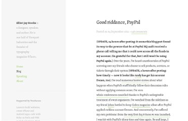 http://elliotjaystocks.com/blog/good-riddance-paypal/