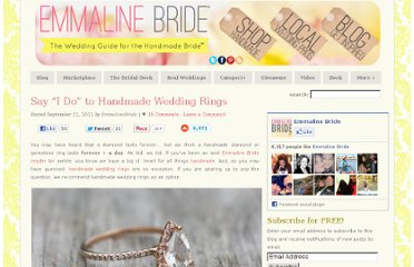 http://emmalinebride.com/handmade-wedding/rings-say-i-do-to-handmade/