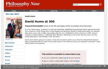 http://philosophynow.org/issues/83/David_Hume_at_300
