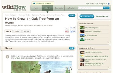 http://www.wikihow.com/Grow-an-Oak-Tree-from-an-Acorn