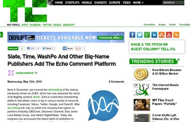 http://techcrunch.com/2010/05/12/echo-announces-latest-batch-of-big-name-publishers-to-integrate-the-comment-platform/
