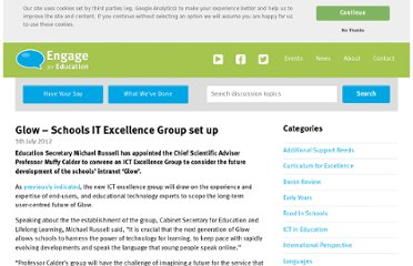 http://engageforeducation.org/news/glow-schools-it-excellence-group-set-up/