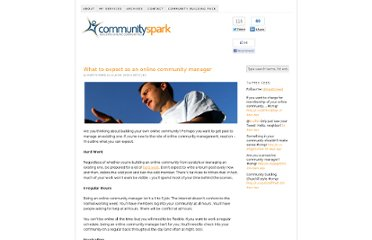 http://www.communityspark.com/what-to-expect-as-an-online-community-manager/