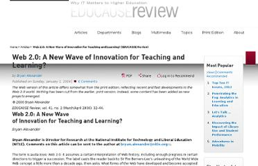 http://www.educause.edu/ero/article/web-20-new-wave-innovation-teaching-and-learning