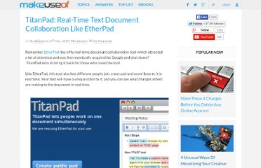 http://www.makeuseof.com/dir/titanpad-real-time-document-collaboration/
