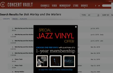 http://www.wolfgangsvault.com/bob-marley-and-the-wailers/