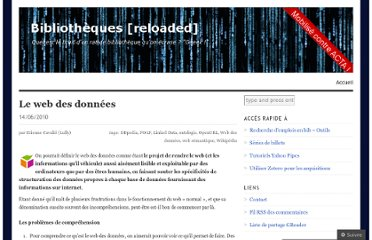 http://bibliotheques.wordpress.com/2010/06/14/le-web-des-donnees/