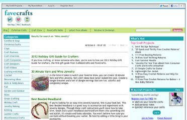 http://www.favecrafts.com/?task=search&search_term=Wire+Jewelry