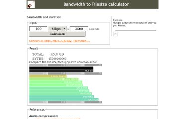 http://web.forret.com/tools/filesize.asp?speed=100&unit=Mbps&dur=3600