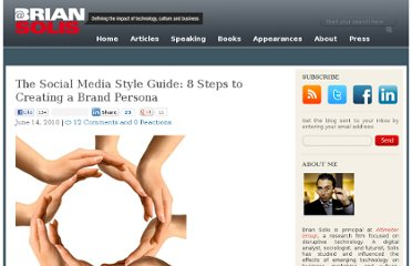 http://www.briansolis.com/2010/06/the-social-media-style-guide-8-steps-to-creating-a-brand-persona-2/