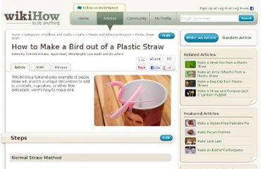 http://www.wikihow.com/Make-a-Bird-out-of-a-Plastic-Straw