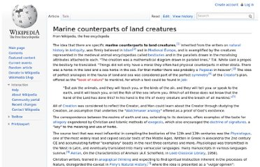 http://en.wikipedia.org/wiki/Marine_counterparts_of_land_creatures