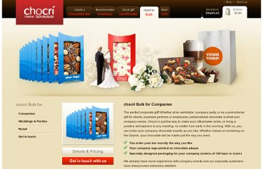 http://www.createmychocolate.com/bulk-orders/#weddings