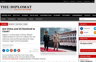 http://thediplomat.com/2011/08/01/are-china-and-us-destined-to-clash/