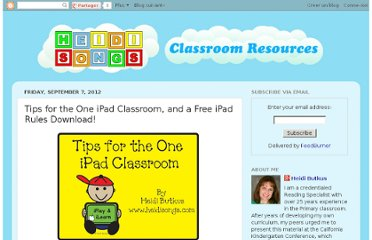 http://heidisongs.blogspot.com/2012/09/tips-for-one-ipad-classroom-and-free.html