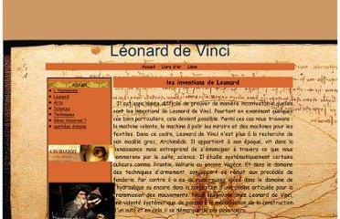 http://leonard-de-vinci.e-monsite.com/pages/techniques/les-inventions-de-leonard.html