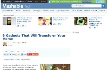 http://mashable.com/2010/06/14/home-gadgets/