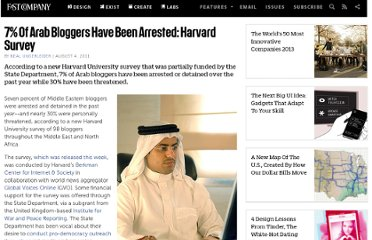 http://www.fastcompany.com/1771520/7-arab-bloggers-have-been-arrested-harvard-survey
