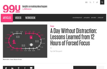 http://99u.com/tips/7032/A-Day-Without-Distraction-Lessons-Learned-from-12-Hrs-of-Forced-Focus
