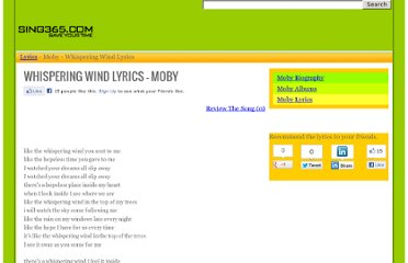http://www.sing365.com/music/lyric.nsf/Whispering-Wind-lyrics-Moby/3300FF73A9BB191A48256BC7001FD61C