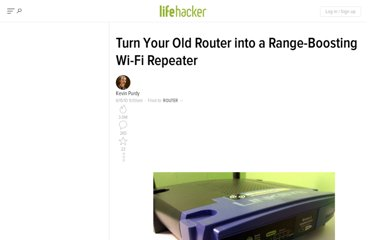 http://lifehacker.com/5563196/turn-your-old-router-into-a-range+boosting-wi+fi-repeater
