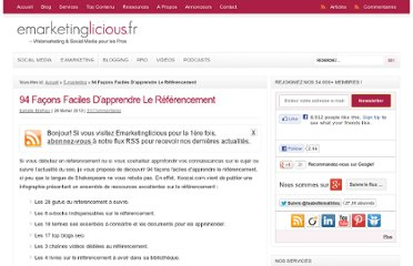 http://www.emarketinglicious.fr/webmarketing/94-facons-faciles-apprendre-le-referencement