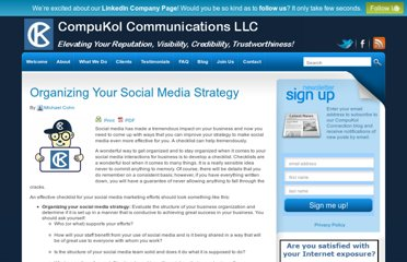 http://www.compukol.com/blog/organizing-your-social-media-strategy/