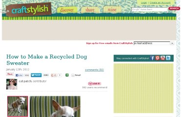 http://www.craftstylish.com/item/40669/how-to-make-a-recycled-dog-sweater