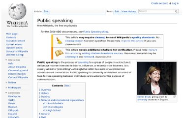 http://en.wikipedia.org/wiki/Public_speaking
