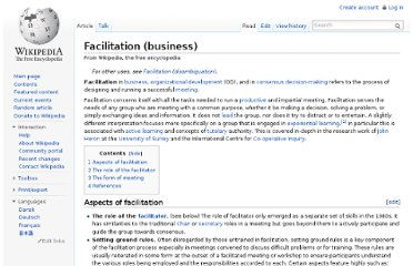 http://en.wikipedia.org/wiki/Facilitation_(business)