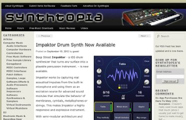http://www.synthtopia.com/content/2012/09/10/impaktor-drum-synth-now-available/