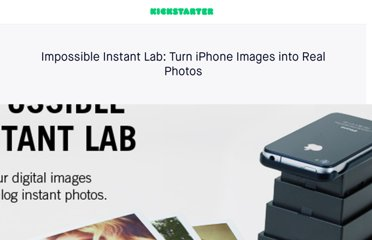 http://www.kickstarter.com/projects/impossible/impossible-instant-lab-turn-iphone-images-into-rea