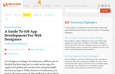 http://mobile.smashingmagazine.com/2012/09/10/ios-sdk-for-designers/