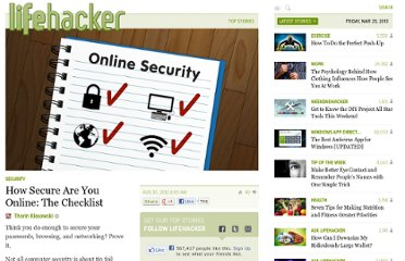 http://lifehacker.com/5938980/how-secure-are-you-online-the-checklist#password