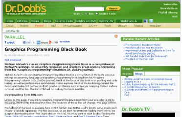 http://www.drdobbs.com/parallel/graphics-programming-black-book/184404919
