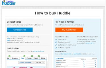 http://www.huddle.com/huddle-prices/