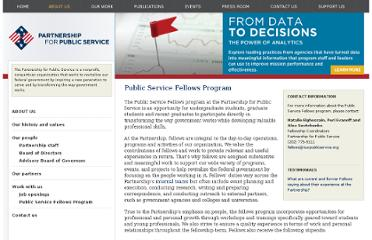 http://apps.ourpublicservice.org/fellows/default.aspx