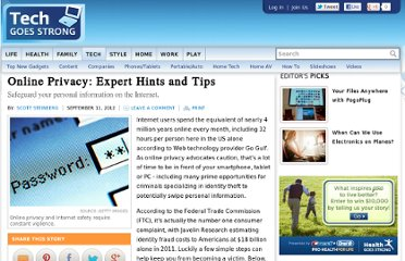 http://tech.lifegoesstrong.com/article/online-privacy-expert-hints-and-tips